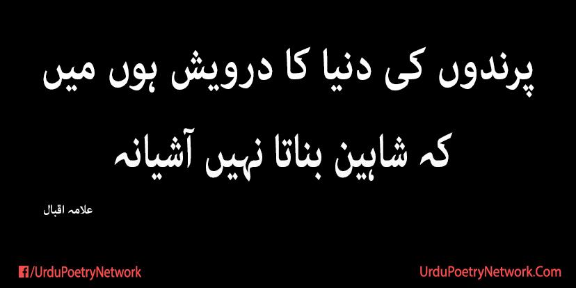 parindo ki duniya ka darwesh hun mein - allama iqbal poetry